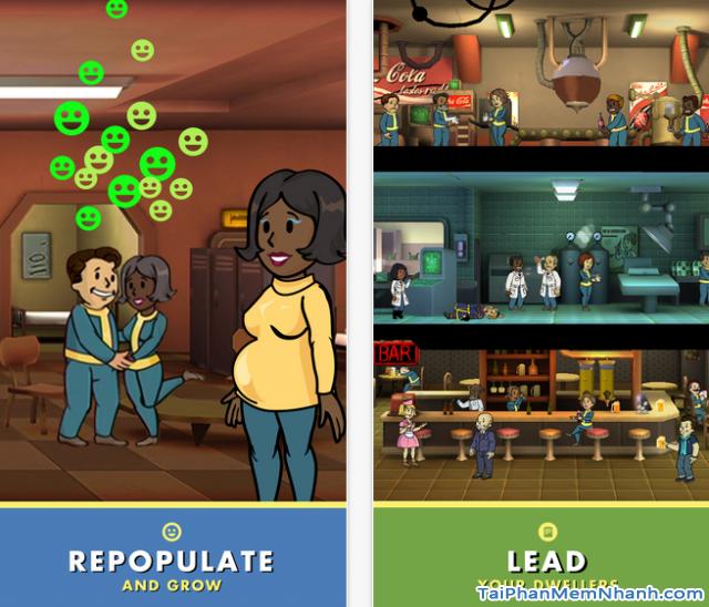 Các sinh hoạt đời thường trong game Fallout Shelter trên iPhone