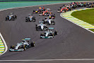 Start of the 2014 Brazilian F1 GP into Senna SS