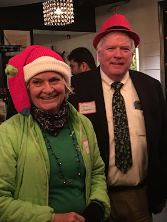 Connie Musgrove and Dan Downer decked out for the holidays
