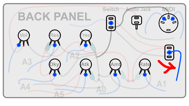 DIY Synth build guide panel connections 20