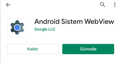 Android Sistem WebView nedir?
