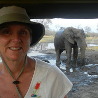 The elephant is taking a mud bath