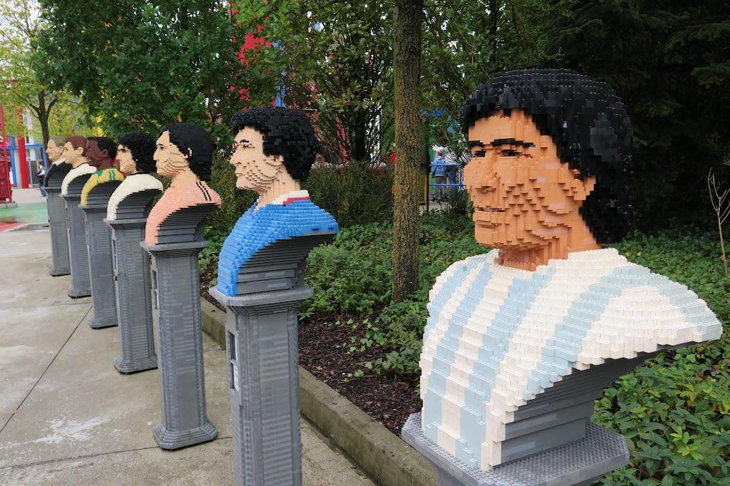 Fußballer wurden aus Lego nachgebildet