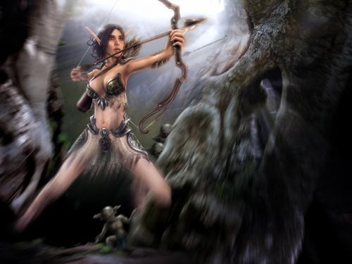 Hunting Goblins, Elven Girls
