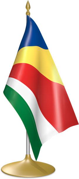 Seychellois table flags - desk flags