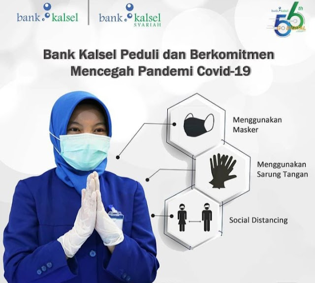 Masih Pandemi, Bank Kalsel tetap Konsisten Siaga Pencegahan Covid-19