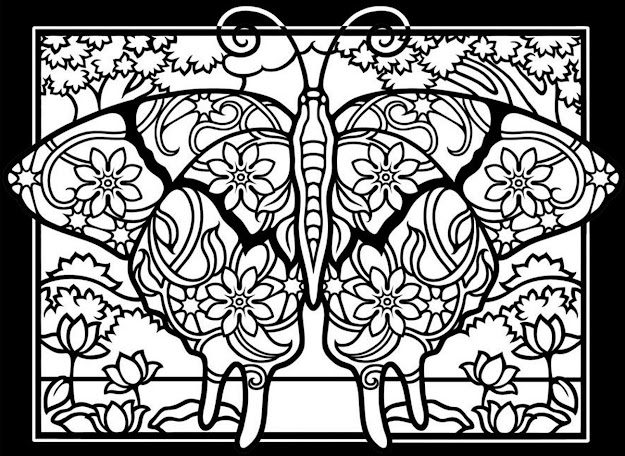 Coloringadultdifficultbutterfliesblackbackground Free To Print