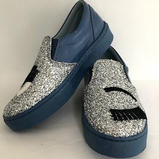 Chiara Ferragni Wink Glitter Slip-On Sneakers