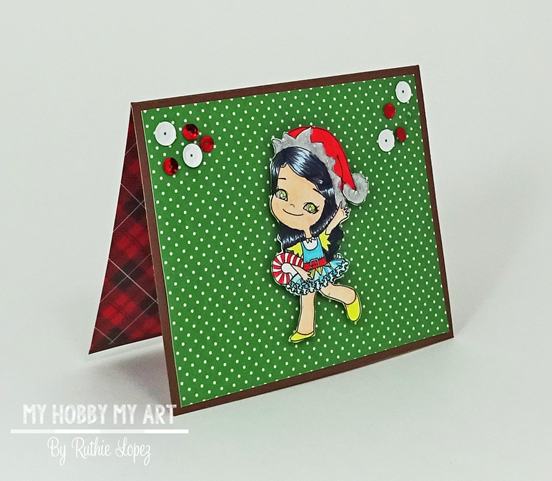 Latinas Arts and Crafts - Pop Up card -Christmas Card - Ruthie Lopez 5