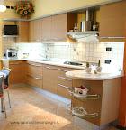foto cucina Skyline Snaidero, realizzata in provincia di Bergamo, Lombardia, penisola zona ingresso