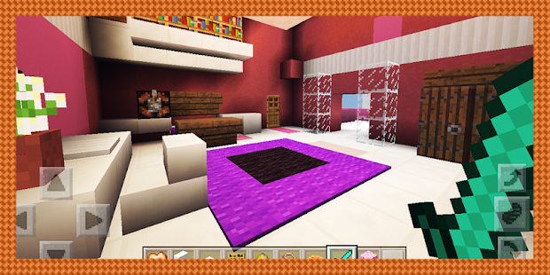 Fancy Pink Mansion. MCPE map - náhled