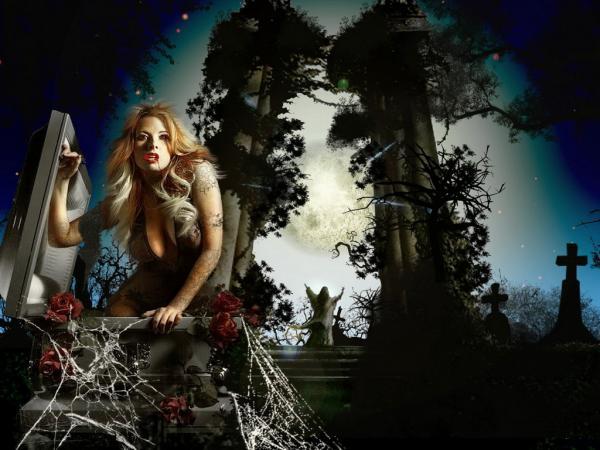 Vampiress On Funeral, Vampire Girls 1