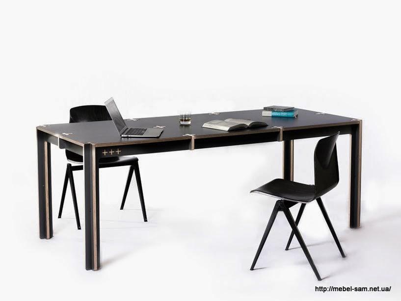 Фанерный стол - офисный вариант