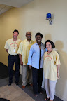 Leading tours were, from left, Tarrant Count College Vice President Bryan Stewart, South Campus President Ernest L. Thomas, Interim Chancellor Erma Johnson Hadley and TCC trustee Louise Appleman.