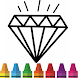 Diamond Coloring & Drawing for kids