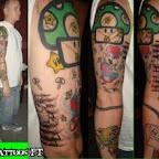 Photo - Super Mario Bros Tattoos Pictures