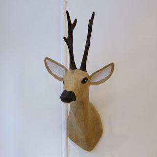 Papier-Mâché Deer Head