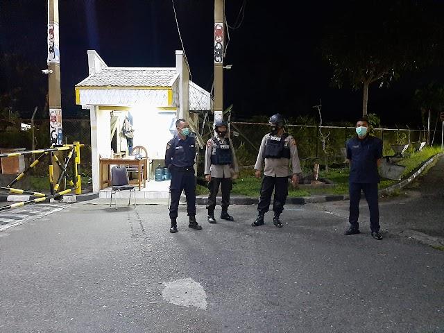 Patroli Malam Brimob, Satpam Perumahan Patraland Balikpapan Dihimbau Selalu Waspada