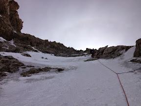 Les pentes de neige et glace du 1er tier