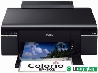 How to reset flashing lights for Epson EP-603A printer