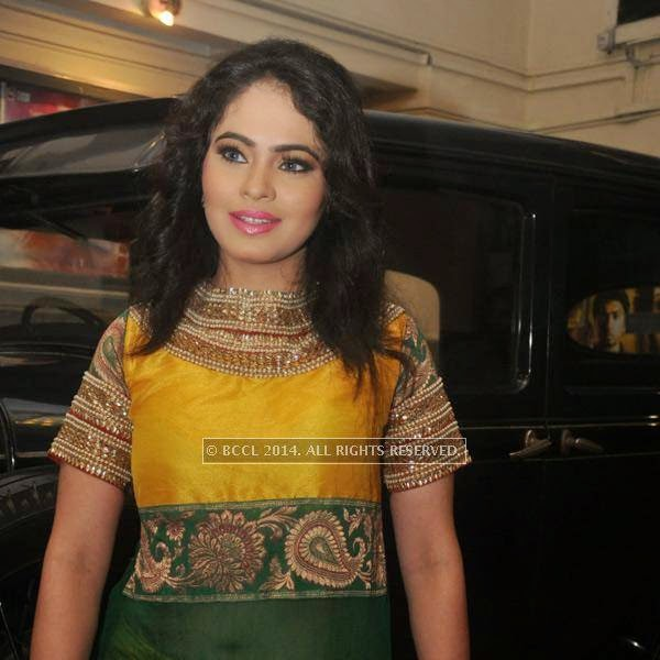 Malobika Banerjee during premiere of Bengali movie Sada Canvas held in Kolkata.
