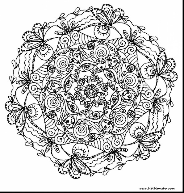 Magnificent Printable Mandala Coloring Pages Adults With Hard Coloring Pages  For Adults And Hard Fairy Coloring