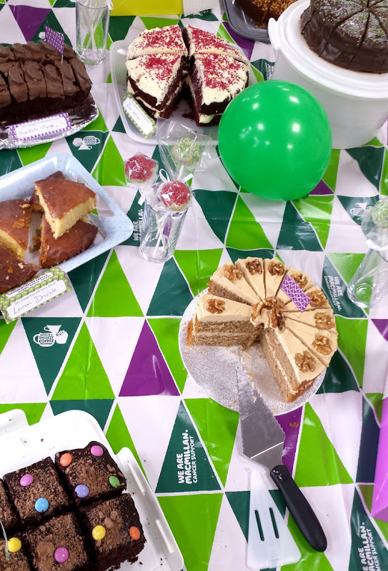 Cakes baked by Garador staff at the 2017 Macmillan Coffee morning
