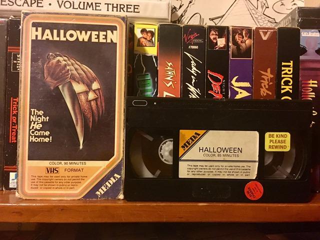 VHS Halloween Original Media Meda VHS release rare