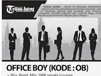 Lowongan kerja office boy di Tribun Jateng