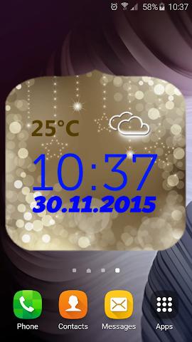 android Neujahr Wetter Uhr Screenshot 2