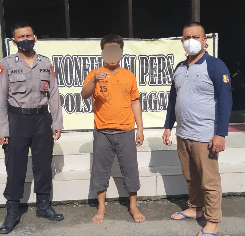 Kapolsek Sunggal : Unit Reskrim Amankan Seorang Pria Diduga Pemilik Sabu
