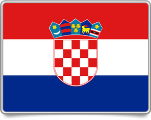 Croatian framed flag icons with box shadow
