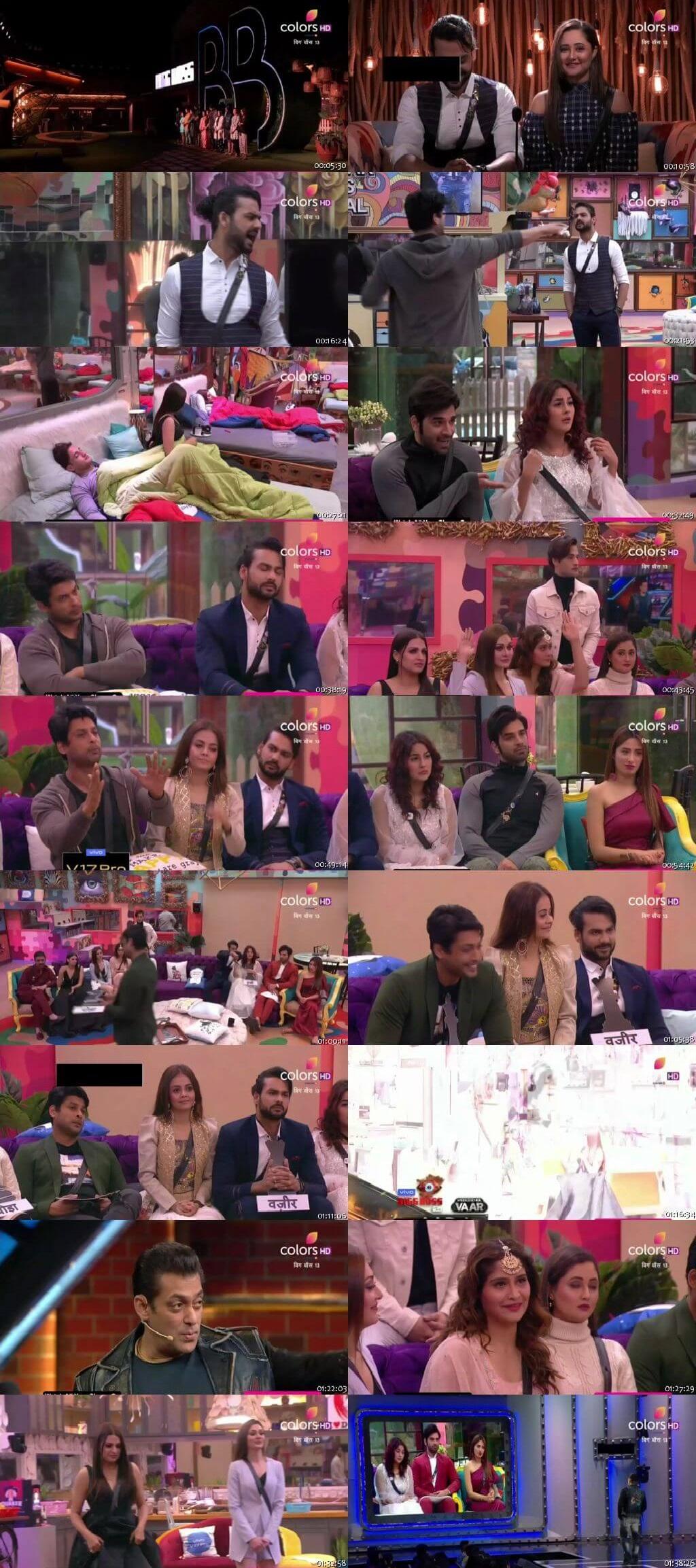 Screenshots Of Hindi Show Bigg Boss 13 30th November 2019 Episode 61 300MB 480P HD