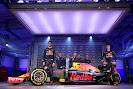 Red Bull RB12 Renault leftside view with drivers and team bosses