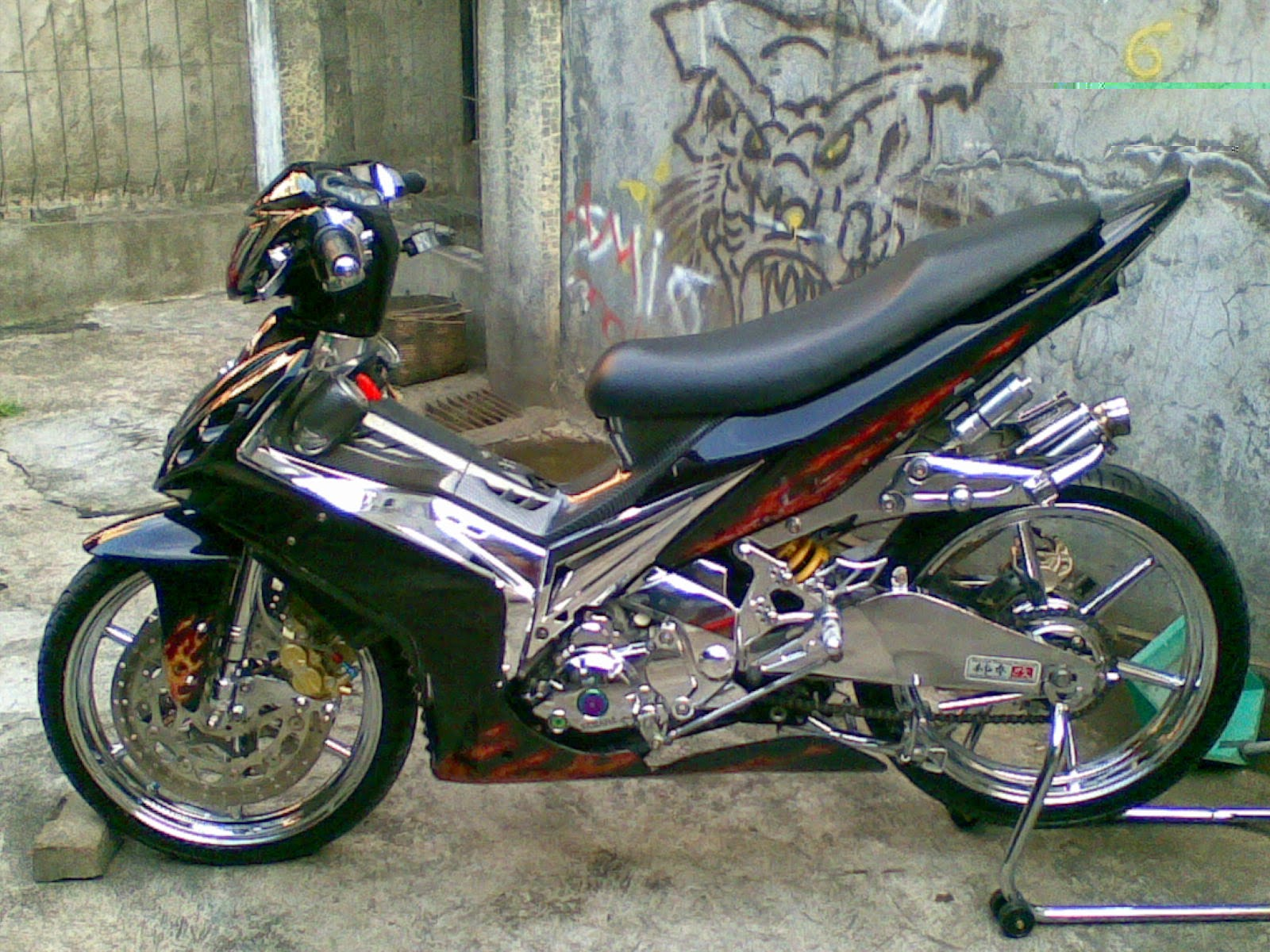 Jupiter Mx Modifikasi Racing Look