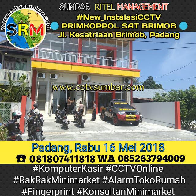 Pemasangan CCTV Koperasi PRIMKOPPOL SAT BRIMOB Sumatera Barat