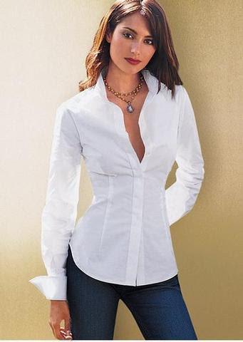 Blusa camisera blanca de popelina