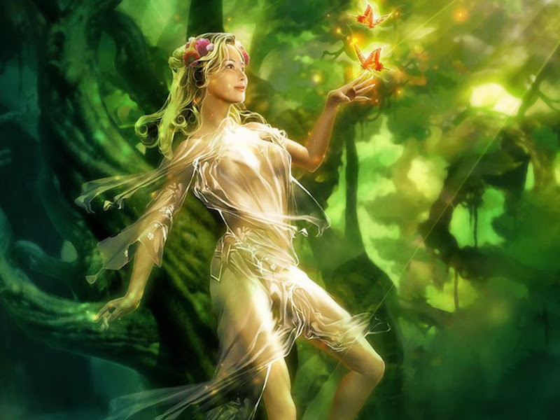 Green Fairy Of Forest, Green Witches