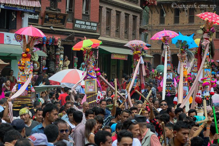 Gai Jatra festival in Bhaktapur