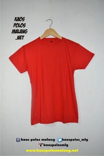 kaos polos malang merah cabe