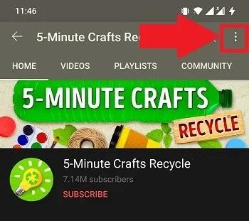 يوتيوب أيقونة القائمة