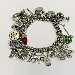 800 Silver and Sterling Silver Charm Bracelet 2