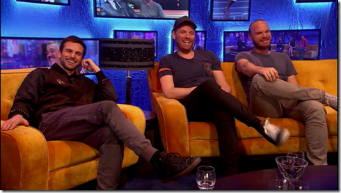 The Jonathan Ross show Coldplay Simon Pegg26