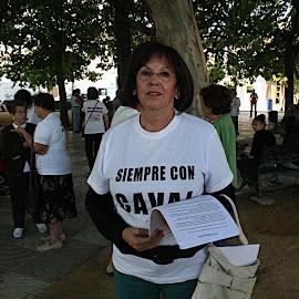 Manifestación en Valdelacalzada