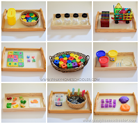 Activity Trays for Toddlers (33 Months)