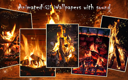 download live fireplace wallpaper with sound animated
