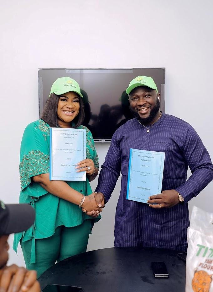 Nkechi Blessing Unveiled As Titan Farms Brand Ambassador