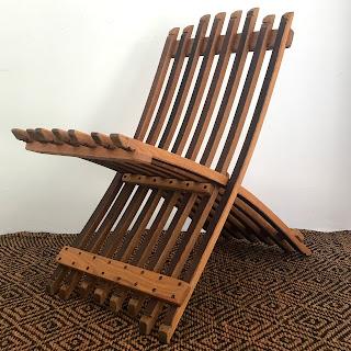 Whit McLeod Folding Wine Barrel Chair