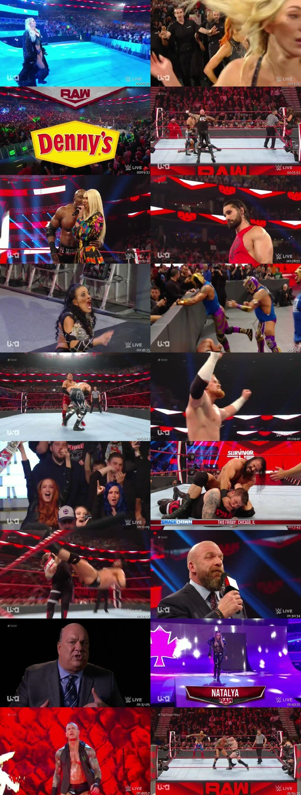Screen Shot Of Wrestling TV Show WWE Monday Night Raw 18th November Watch Online Free Download