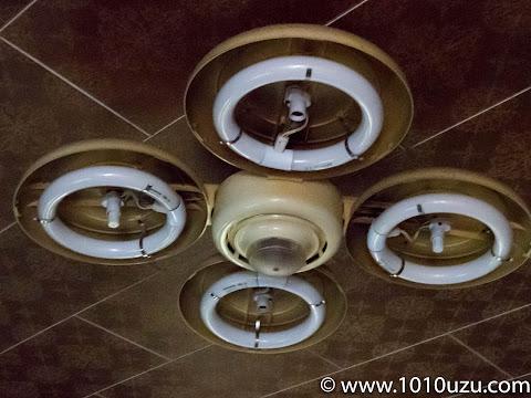 既存の30W4本の蛍光灯の照明